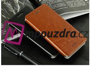 Flipové kožené puzdro na Xiaomi Mi4- čierné - 4