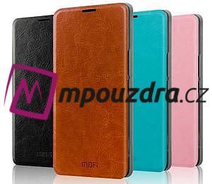 Flipové kožené puzdro na Xiaomi Mi4- hnedé - 4