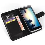 Peňaženkové puzdro pre Alcatel One Touch Idol Alpha 6032 A - čierné - 4/6