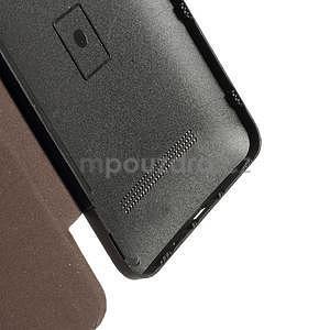 Flipové puzdro na Asus Zenfone 5 - coffee - 4