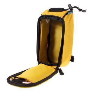 Prostorná brašna na kolo pro mobilní telefony do rozměru 158,1 x 78 x 7,1 mm - žlutá - 4