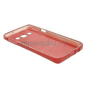 Broušené puzdro na Samsung Galaxy A3 - červená - 4