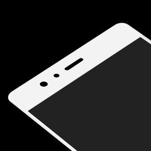 Protinárazové celoplošné tvrdené sklo pre mobil Huawei P9 - biele - 4
