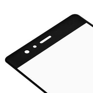 Protinárazové celoplošné tvrzené sklo na mobil Huawei P9 - černé - 4
