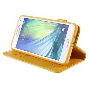 Mačička Domi PU kožené puzdro na Samsung Galaxy A5 - žlté - 4