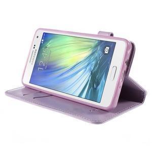 Mačička Domi PU kožené puzdro na Samsung Galaxy A5 - fialové - 4