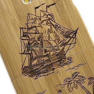 Dřevené pouzdro rozepínací na Samsung Galaxy S4 - loď - 4