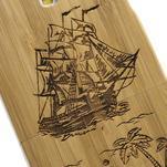 Drevené puzdro rozepínací pre Samsung Galaxy S4 - loď - 4/7