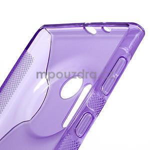 Gélové S-line puzdro pre Nokia Lumia 1020- fialové - 4
