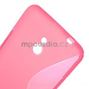 Gélové S-line puzdro pre Nokia Lumia 1320- ružové - 4