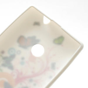 Gélové puzdro na Nokia Lumia 520- farebné motýlci - 4
