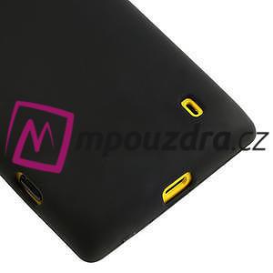 Gélové matné puzdro na Nokia Lumia 520 - čierné - 4