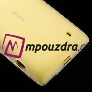 Gélové matné puzdro na Nokia Lumia 520 - biele - 4