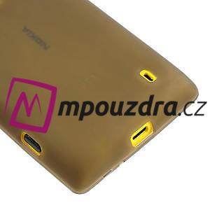 Gélové matné puzdro na Nokia Lumia 520 - šedé - 4