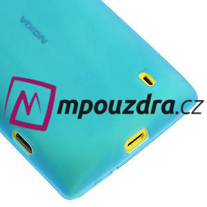 Gélové matné puzdro na Nokia Lumia 520 - svetlo modré - 4