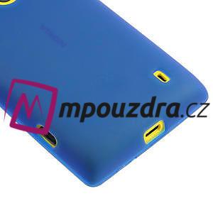 Gélové matné puzdro na Nokia Lumia 520 - modré - 4