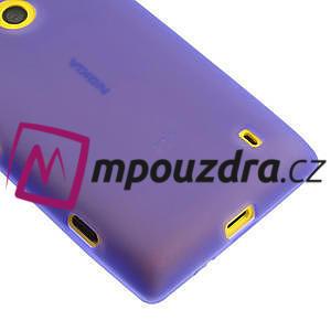 Gélové matné puzdro na Nokia Lumia 520 - fialové - 4