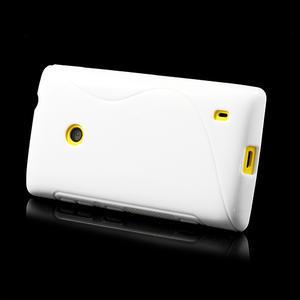 Gélové S-line puzdro na Nokia Lumia 520- biele - 4