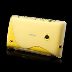 Gélové S-line puzdro na Nokia Lumia 520- transparentný - 4