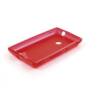 Gélové S-line puzdro na Nokia Lumia 520- červené - 4