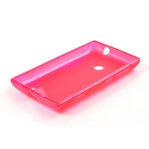 Gélové S-line puzdro na Nokia Lumia 520- růžové - 4