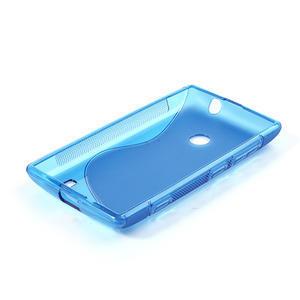 Gélové S-line puzdro na Nokia Lumia 520- modré - 4