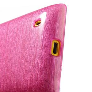 Gélové kartáčové puzdro na Nokia Lumia 520- růžové - 4