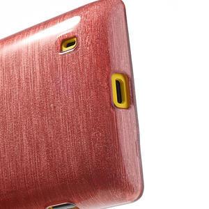 Gélové kartáčové puzdro na Nokia Lumia 520- svetleružové - 4