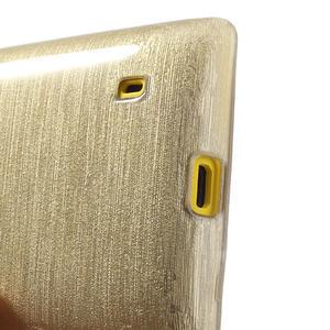 Gélové kartáčové puzdro na Nokia Lumia 520- zlaté - 4