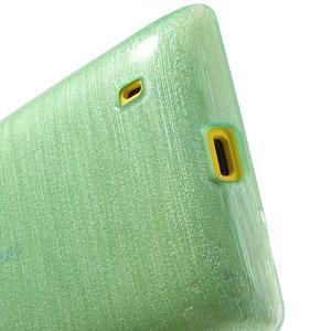 Gélové kartáčové puzdro na Nokia Lumia 520- zelenomodré - 4