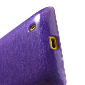 Gélové kartáčové puzdro na Nokia Lumia 520- fialové - 4