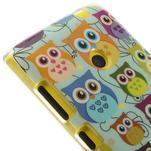 Gélové puzdro na Nokia Lumia 520 - multi sovy 2 - 4/5