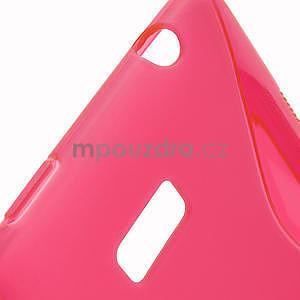 Gélové S-line puzdro pre HTC Desire 600- červené - 4