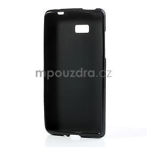 Gélové matné puzdro pre HTC Desire 600- čierné - 4