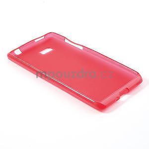 Gélové matné puzdro pre HTC Desire 600- červené - 4