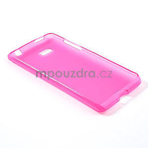 Gélové matné puzdro pre HTC Desire 600- růžové - 4