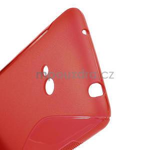 Gélové S-line puzdro pre Nokia Lumia 625- červené - 4