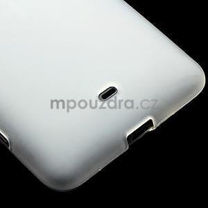 Gélové matné puzdro pre Nokia Lumia 625- biele - 4
