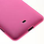 Gélové matné puzdro pre Nokia Lumia 625- ružové - 4/5