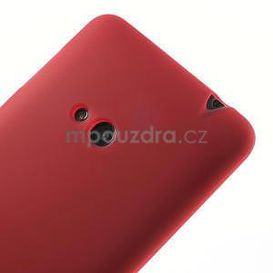 Gélové matné puzdro pre Nokia Lumia 625- červené - 4