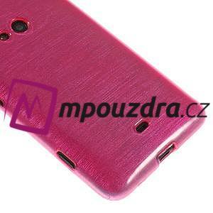 Gélové kartáčové puzdro na Nokia Lumia 625 - ružové - 4