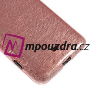 Gélové kartáčové puzdro na Nokia Lumia 625 - svetleružové - 4