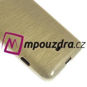Gélové kartáčové puzdro na Nokia Lumia 625 - zlaté - 4