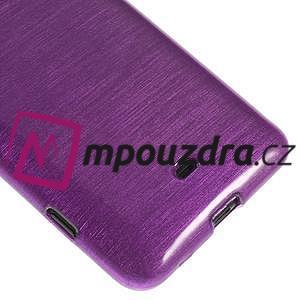 Gélové kartáčové puzdro na Nokia Lumia 625 - fialové - 4