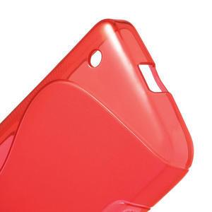 Gélové S-line puzdro na Nokia Lumia 630- červené - 4