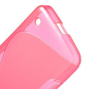 Gélové S-line puzdro na Nokia Lumia 630- ružové - 4
