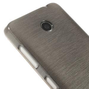 Gélové Kartáčové puzdro na Nokia Lumia 630- šedé - 4