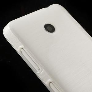Gélové Kartáčové puzdro na Nokia Lumia 630- biele - 4