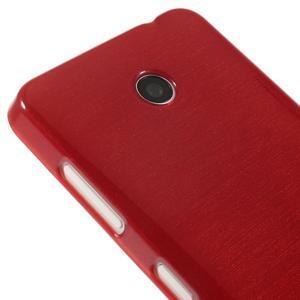 Gélové Kartáčové puzdro na Nokia Lumia 630- červené - 4
