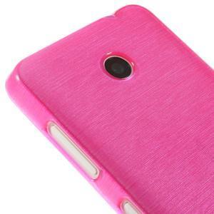 Gélové Kartáčové puzdro na Nokia Lumia 630- ružové - 4